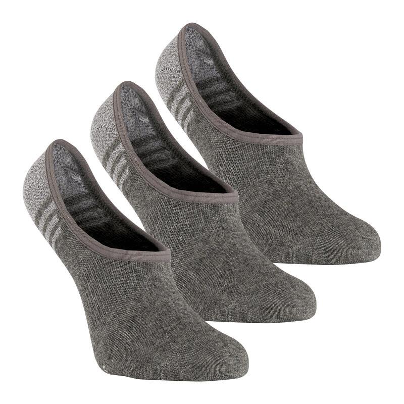 Chaussettes marche sportive/nordique WS 100 Invisible gris clair (3 paires)