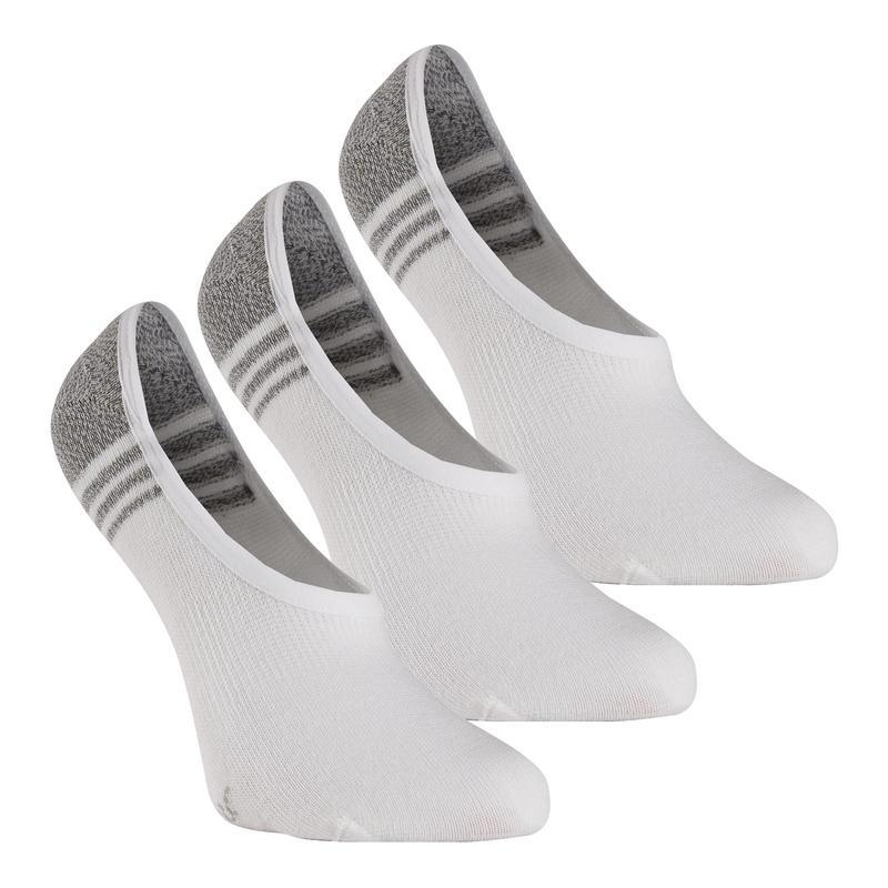Calcetines Caminar/Marcha Nórdica WS 100 Adulto. Invisibles. Blanco (3 pares)