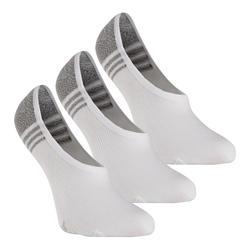 Sokken voor sportief wandelen/nordic walking WS 100 Invisible wit 3 paar