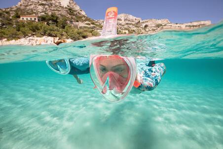 Máscara Snorkel Superficie Easybreath 500 Coral Rosa
