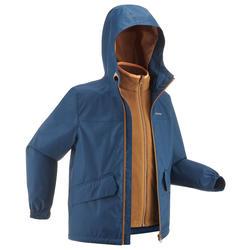 7到15歲兒童款3合1超保暖防水輕量健行外套SH100