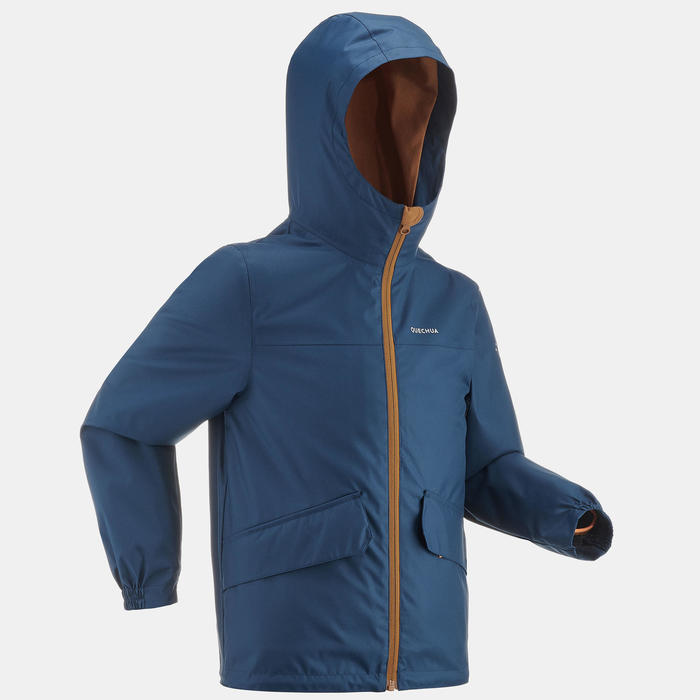 Kids' 7-15 Years 3-in-1 Hiking Waterproof and Lightweight Jacket SH100 X-Warm
