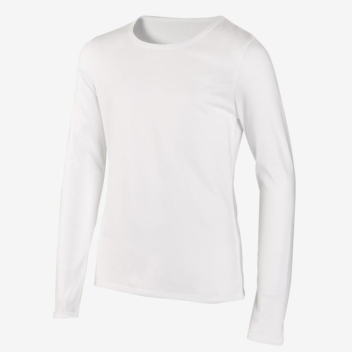 T-Shirt manches longues basique blanc uni fille