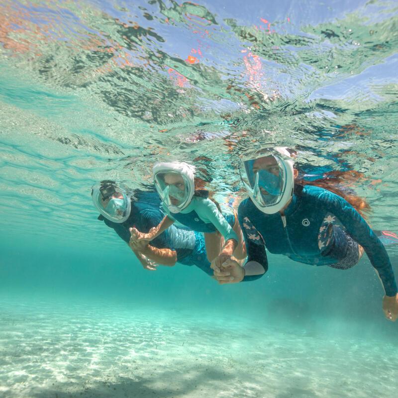 praktische man snorkelen