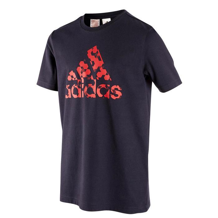T-shirt garçon bleu avec logo graphique adidas sur la poitrine