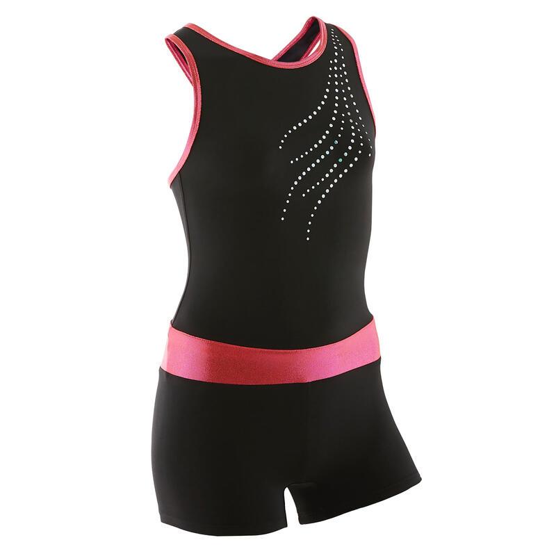 Tuta ginnastica artistica femminile 500 rosa