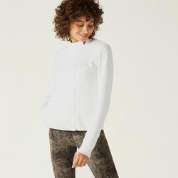 女款拉鍊外套560 - 灰白色