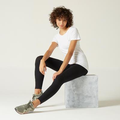 Camiseta 100% algodón Fitness Blanco