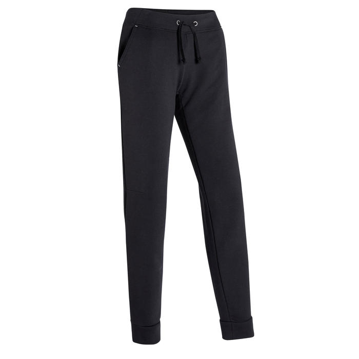 Women's Regular Jogging Bottoms 500 - Black