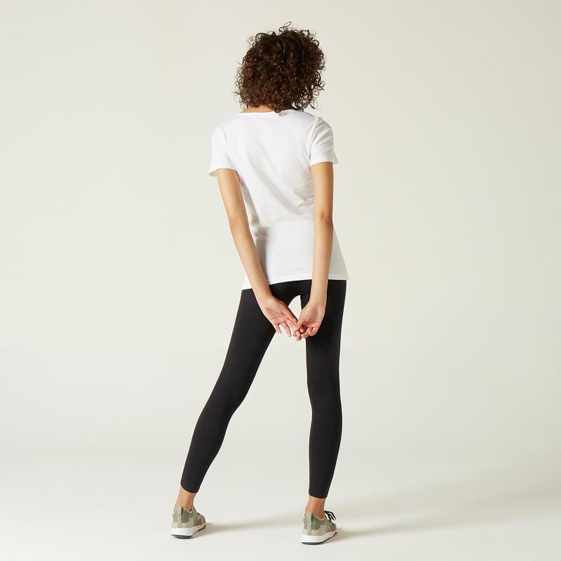 Women's 100% Cotton T-Shirt Sportee - White