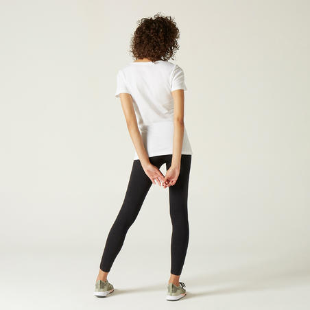 Women's Pure Cotton T-Shirt Sportee - White