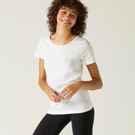 100% Cotton Fitness T-Shirt - White