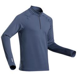Camisola Térmica de Ski / Snowboard 500 1/2 fecho Homem Azul marinho