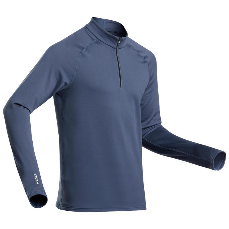 Sous-vêtement de ski homme 500 1/2 zip haut bleu marine