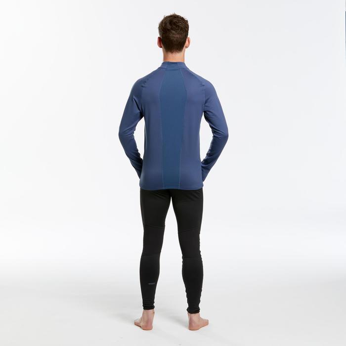 Sous-vêtement de ski homme 500 1/2 zip haut bleu