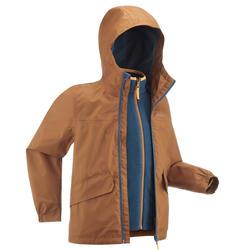 Giacca montagna bambino 7-15 anni SH100 WARM 3in1 | +3,5°C | marrone
