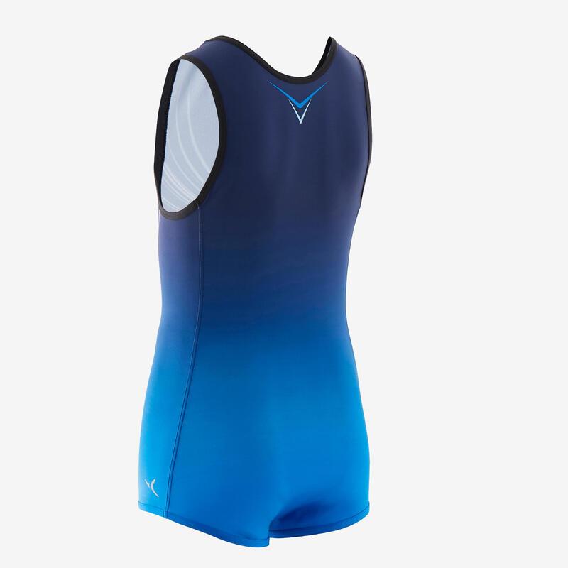 Léotard Gymnastique Artistique Masculine Bleu