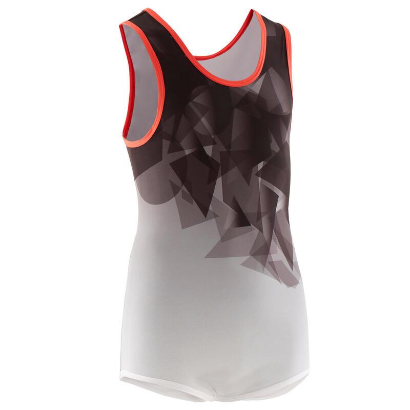 Men's Artistic Gymnastics Leotard - Black/Grey