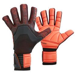 Keepershandschoenen voetbal volwassenen F900 negatieve naad zwart rood