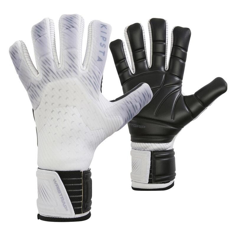 Fotbalové brankářské rukavice s obrácenými švy F920 šedé