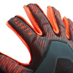 Keepershandschoenen voetbal volwassenen F900 Rollfinger naad zwart rood