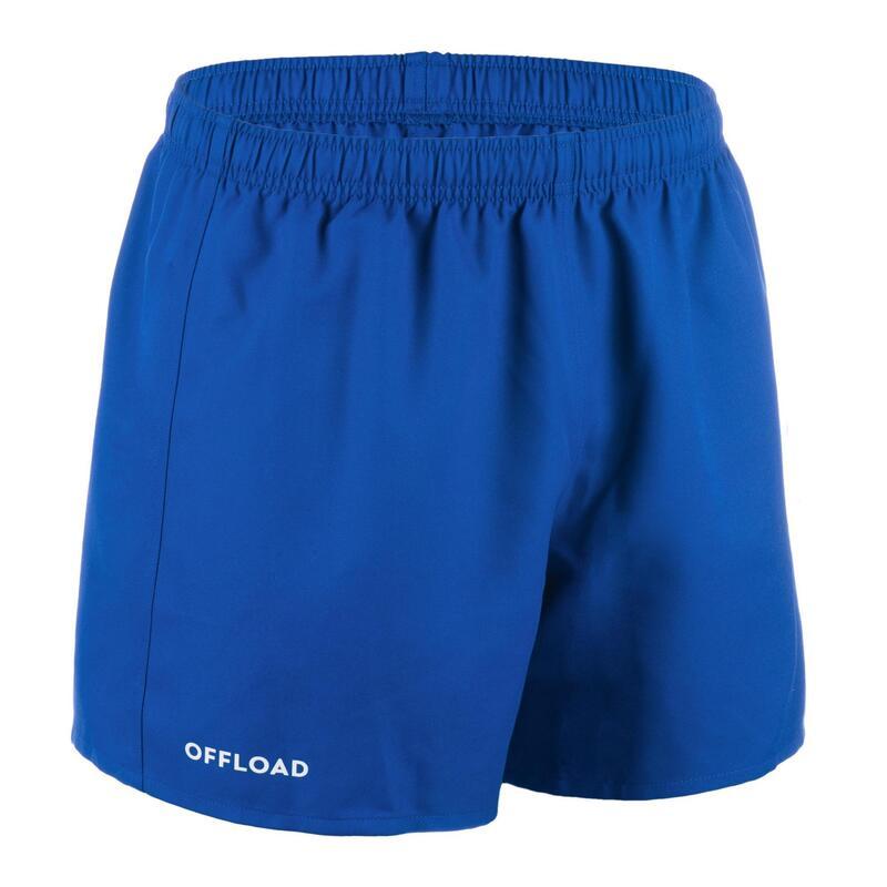 Adult Rugby Club Pocketless Shorts R100 - Blue