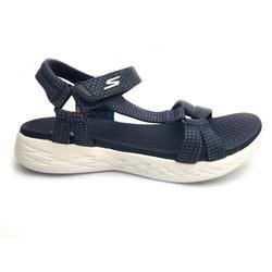 Calçado de caminhada desportiva Skechers Mulher azul