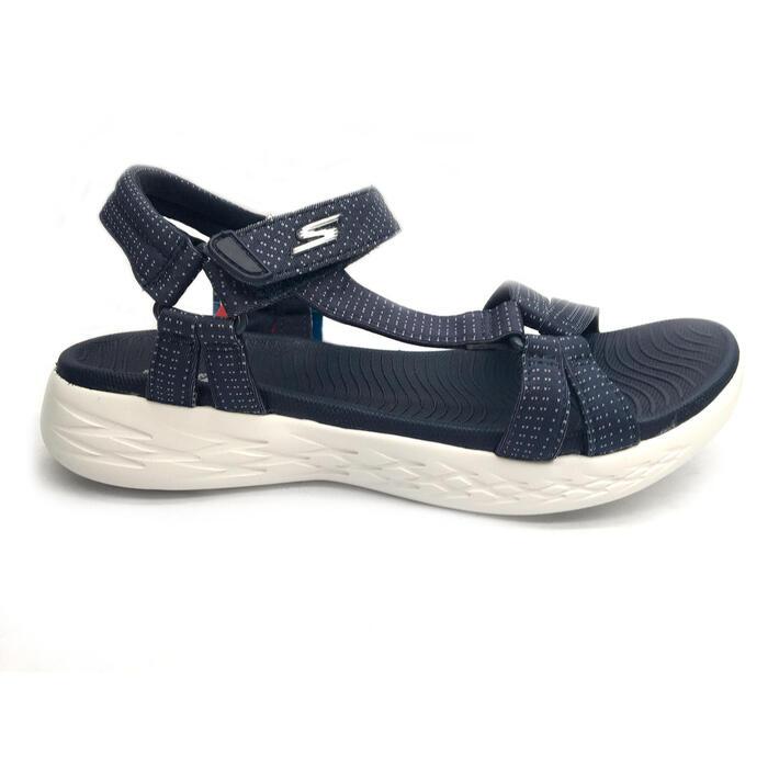 Chaussures marche sportive femme Sandales Skechers bleu