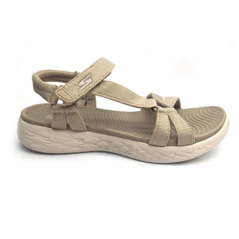 Sandalias Skechers Mujer Beige Zapatillas Caminar