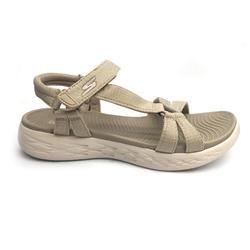 Calçado de caminhada desportiva Skechers Mulher bege