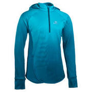 AT 500 Girls' Athletics Long-Sleeved Jersey Shaded Blue