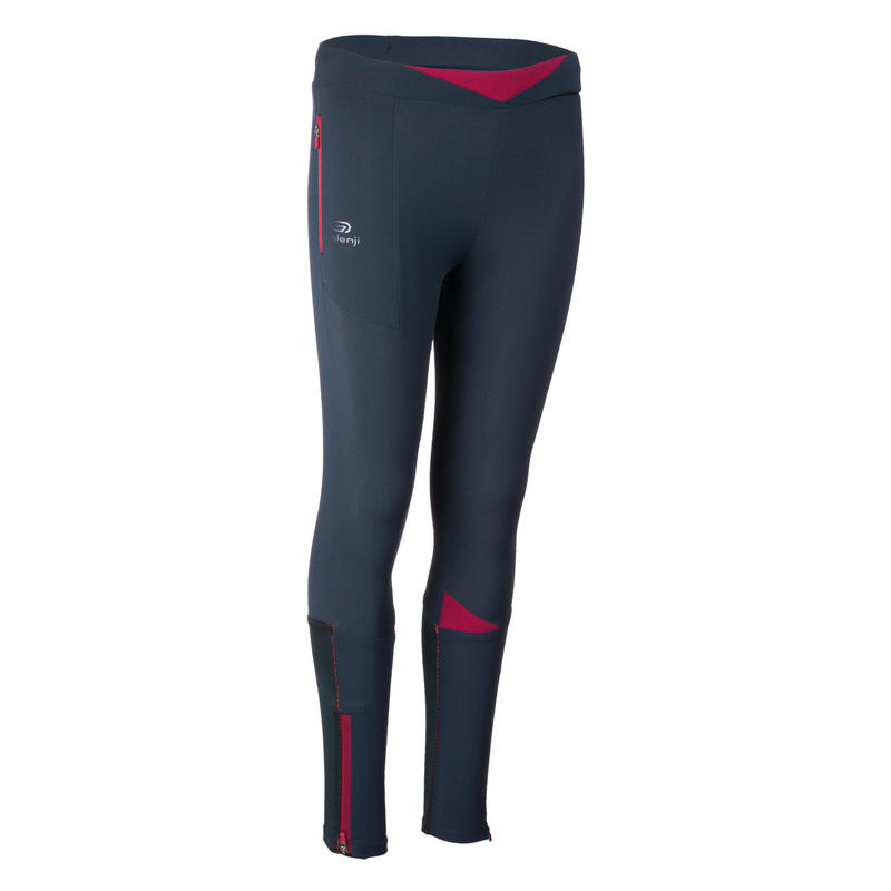 AT 500 Girls' Athletics Tights - navy blue and purple