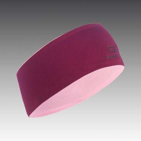 Bērnu ziemas abpusēja vieglatlētikas galvas lente, purpura un gaiši rozā