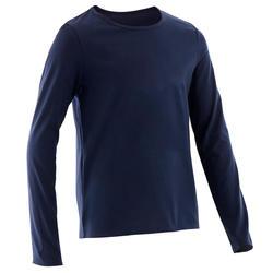 Langarmshirt Basic Kinder marineblau