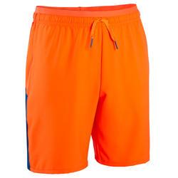 Short de football enfant F520 bleu et orange