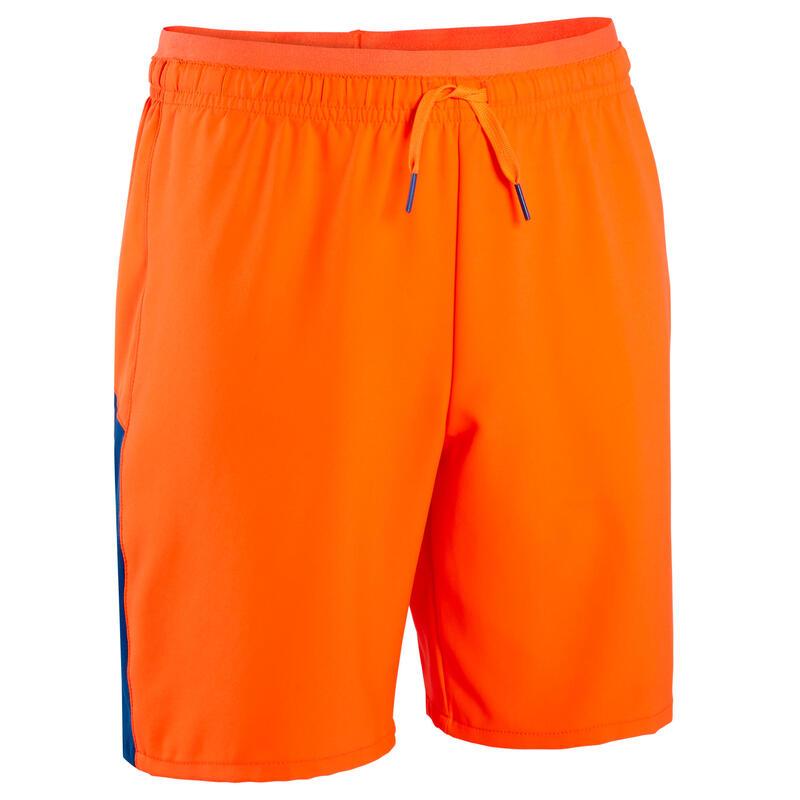 F520 Kids' Football Shorts - Blue/Orange