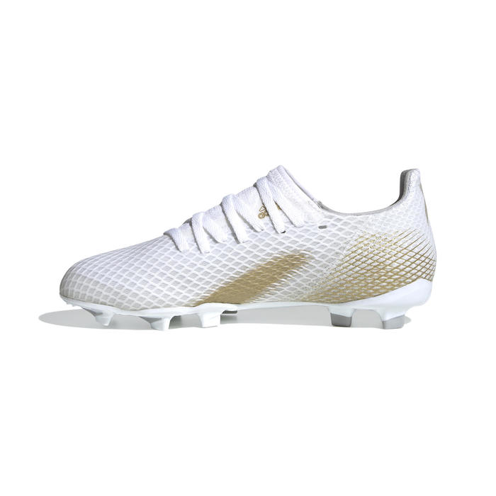 Voetbalschoenen kind X Ghosted.3 MG wit/goud