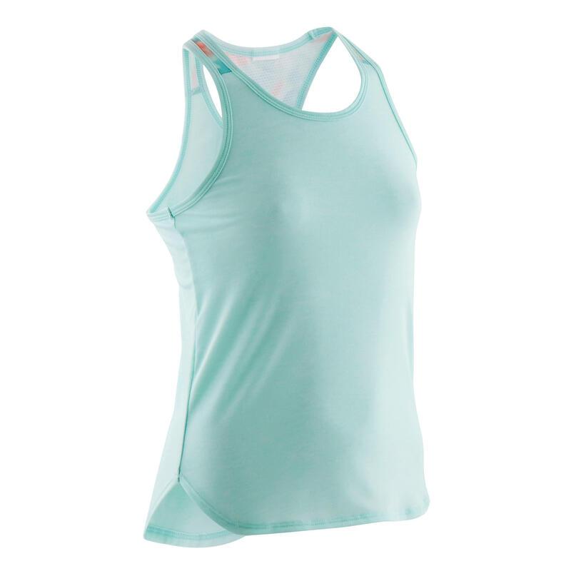 Camiseta sin mangas transpirable verde niña