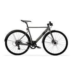 Snelle stadsfiets Elops Speed 900 grijs