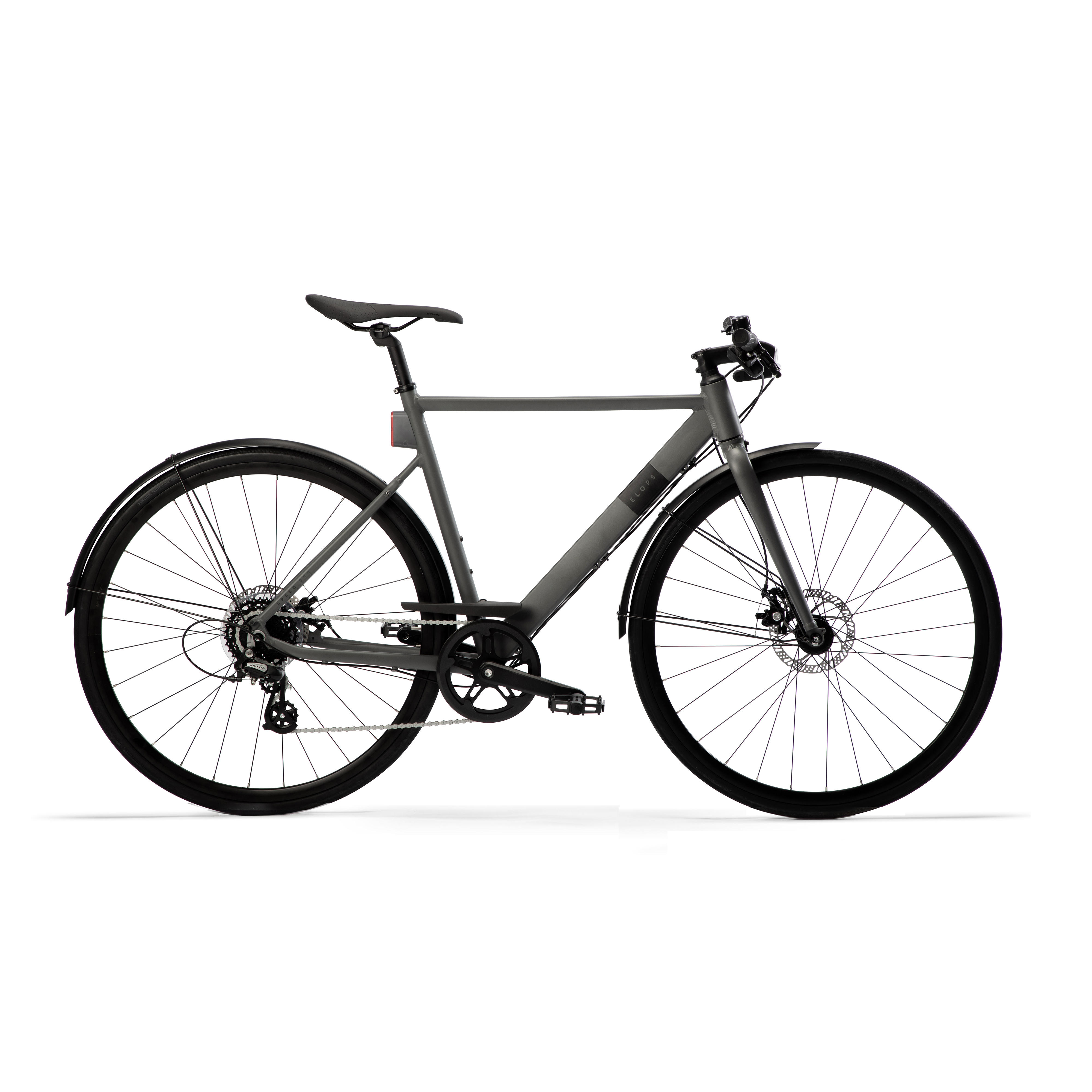 Bicicletă Oraş Elops 900 Gri imagine