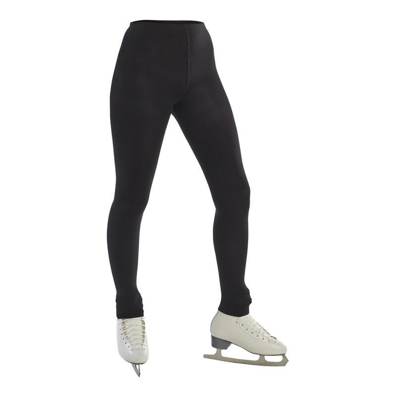 Adult Footless Figure Skating Tights - Black