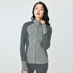 Women's Mountain Walking Fleece Jacket MH520 - Grey