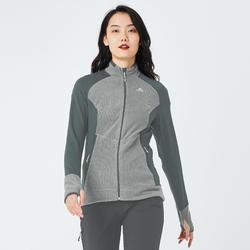 女款登山健行刷毛外套MH520-灰色