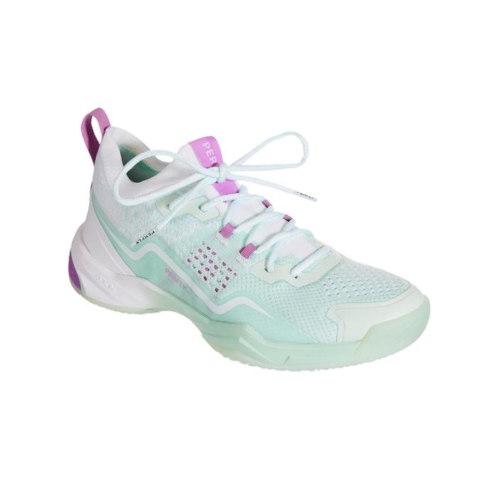 WOMEN BADMINTON SHOES BS 900 ULTRA LITE WHITE MINT