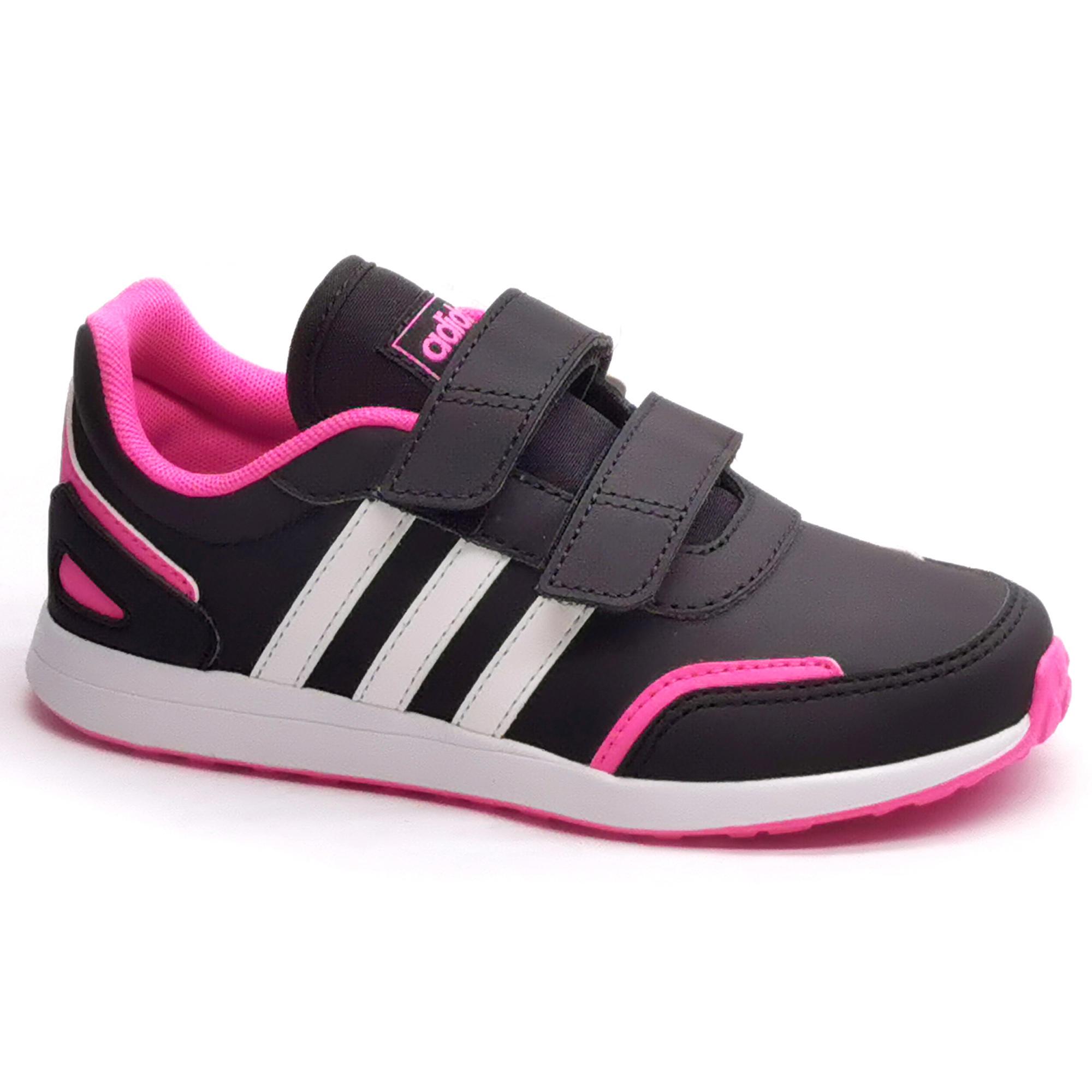 Chaussures de marche enfant Adidas Switch noir / rose velcro ...