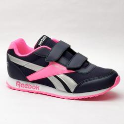 Chaussures de marche enfant Reebok Classic noir / rose velcro