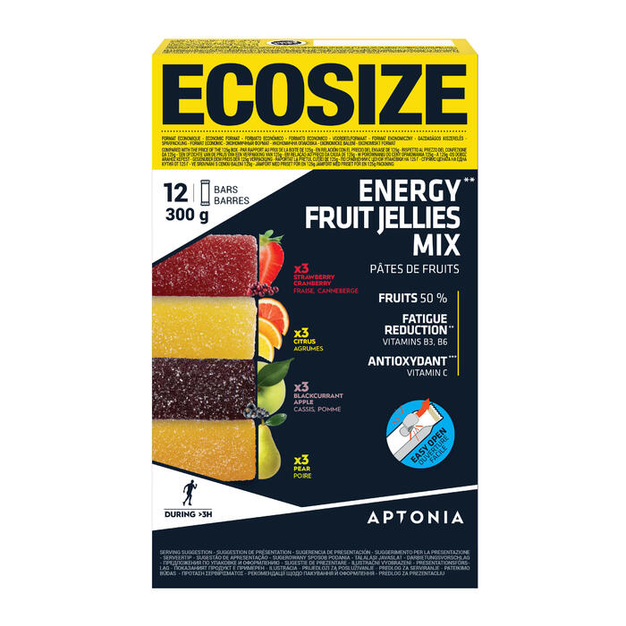Pâte de fruits ENERGY FRUIT JELLIES MIX 12 x 25g