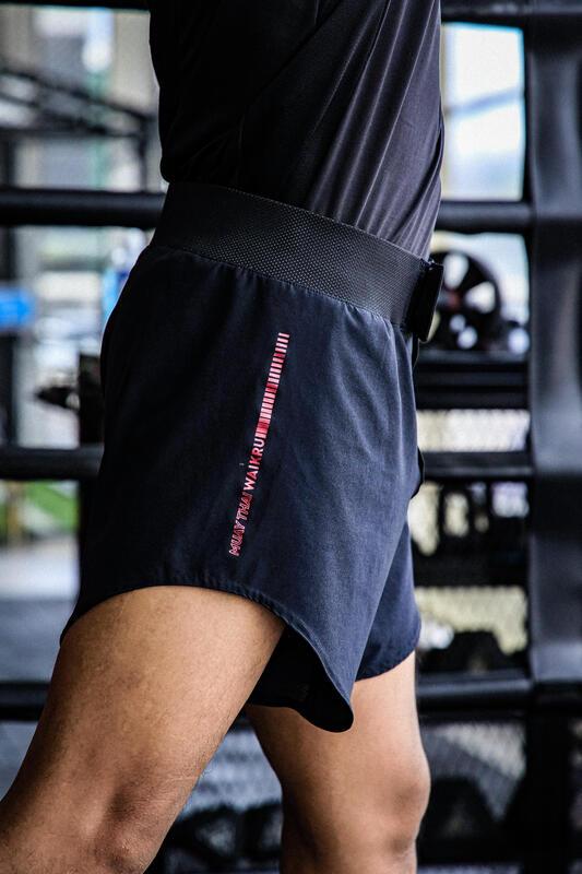 กางเกงมวยไทยแบบคาร์ดิโอรุ่น M100