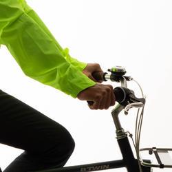 Regenjas voor op de fiets heren 100 fluogeel PBM zichtbaarheid overdag