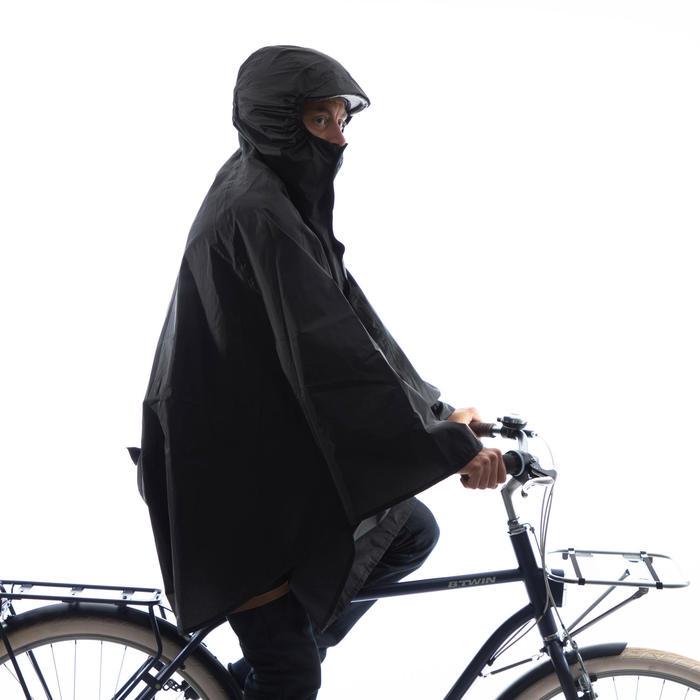 Regenponcho Fahrrad City 100 schwarz